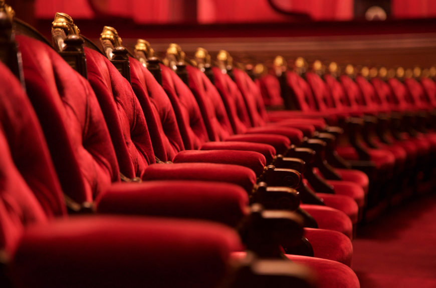 A theater row of seats.